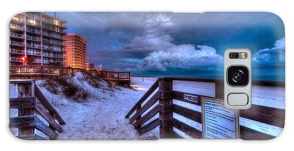 Romar Beach Clouds Galaxy Case