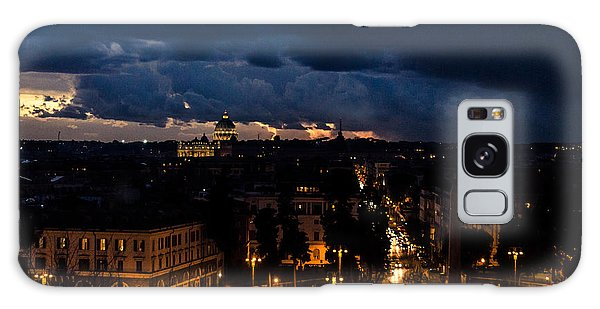 Rome Cityscape At Night  Galaxy Case