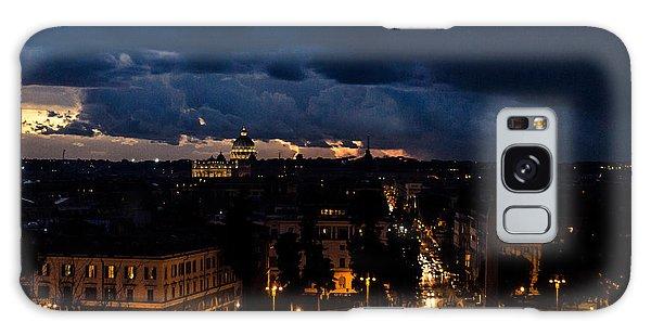 Rome Cityscape At Night  Galaxy Case by Andrea Mazzocchetti