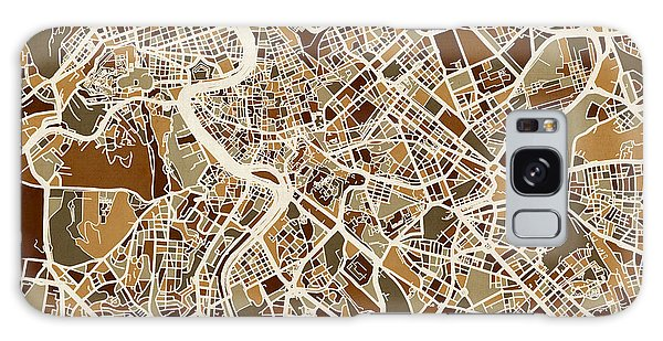 City Map Galaxy Case - Rome Italy Street Map by Michael Tompsett