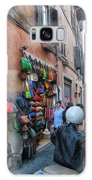 Rome- Street Market Galaxy Case