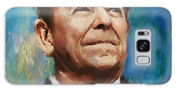 Ronald Reagan Portrait 6 Galaxy Case