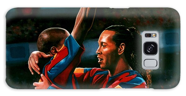 Sportsman Galaxy Case - Ronaldinho And Eto'o by Paul Meijering