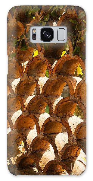 roof capping tiles built as a pattern wall at Villa d'Este Tivol Galaxy Case