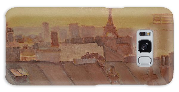 Roofs Of Paris Galaxy Case by Julie Todd-Cundiff