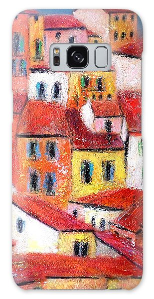 Rooftops Collioure Galaxy Case