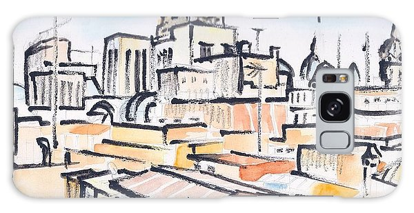 Rooftops Of Barcelona Sketch Galaxy Case