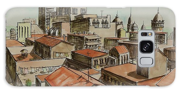 Rooftops Of Barcelona Galaxy Case