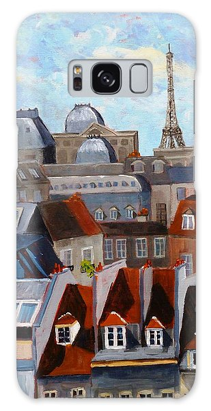 Rooftops Of Paris Galaxy Case