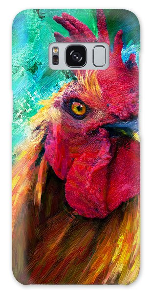 Rooster Colorful Expressions Galaxy Case