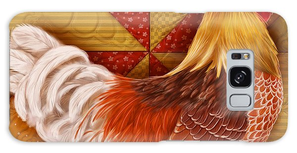 Rooster On A Quilt II Galaxy Case
