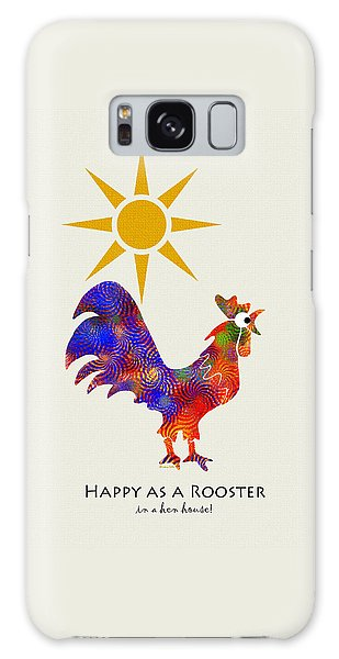 Rooster Pattern Art Galaxy S8 Case