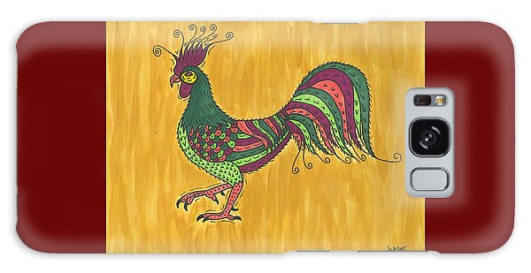 Rooster Strut Galaxy Case by Susie Weber