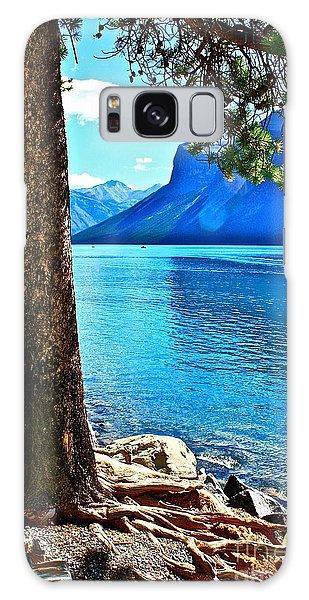 Rooted In Lake Minnewanka Galaxy Case by Linda Bianic