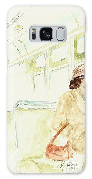 Rosa Parks Rides Galaxy Case by P J Lewis