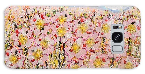 Rosa Ruby Flower Garden Galaxy Case