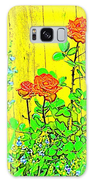 Rose 9 Galaxy Case by Pamela Cooper