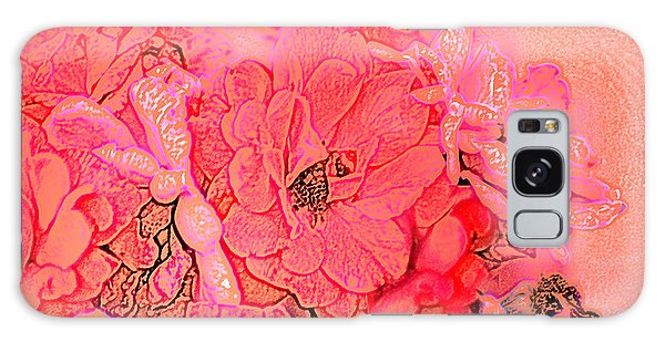 Rose Bouquet Galaxy Case by Kathleen Stephens