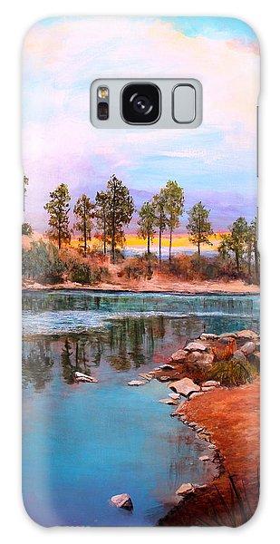 Rose Canyon Lake 2 Galaxy Case by M Diane Bonaparte