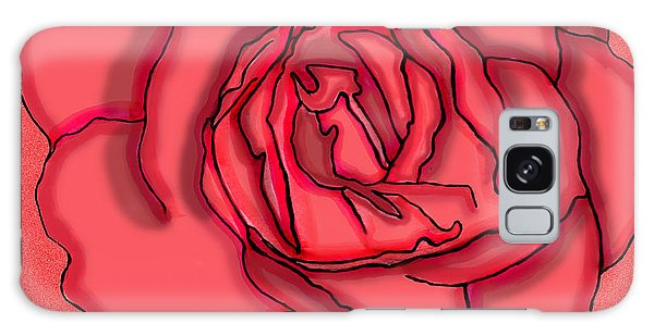 Rose Drawing Galaxy Case by Christine Perry