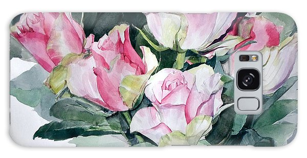 Watercolor Of A Pink Rose Bouquet Celebrating Ezio Pinza Galaxy Case