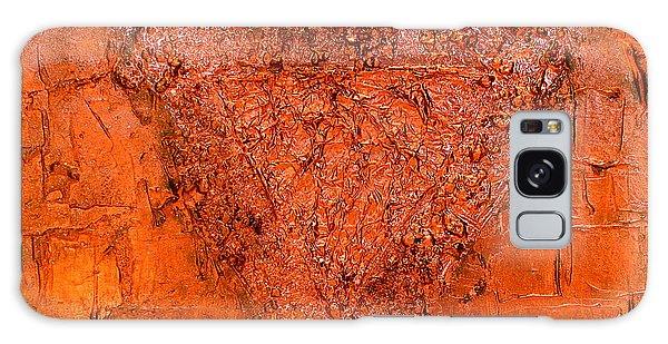 Rose Gold Mixed Media Triptych Part 3 Galaxy Case
