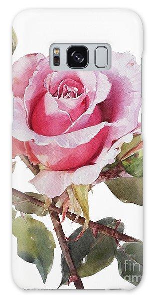 Pink Rose Grace Galaxy Case by Greta Corens