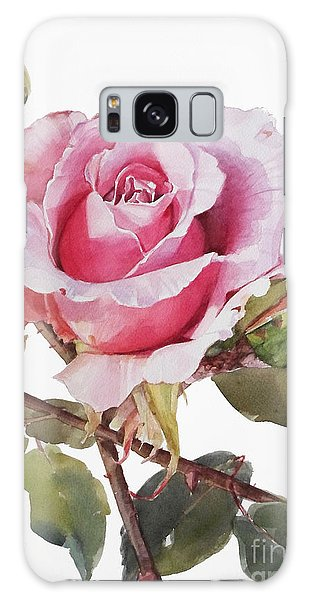 Watercolor Of Pink Rose Grace Galaxy Case