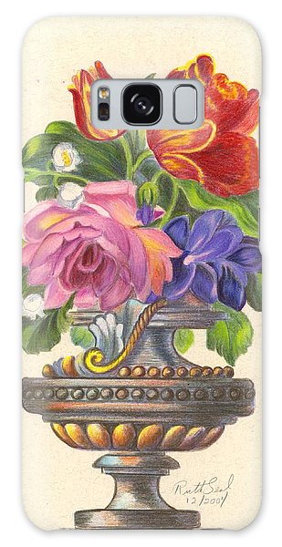 Rose In Antique Vase Galaxy Case by Ruth Seal