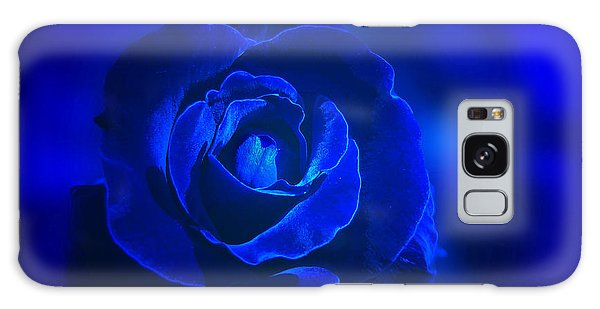 Rose In Blue Galaxy Case