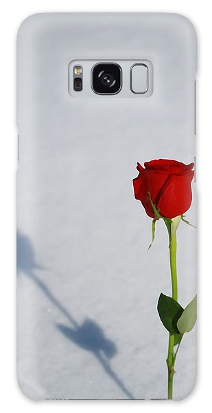 Cold Day Galaxy Case - Rose In Snow Spring Approaches by Dan Sproul