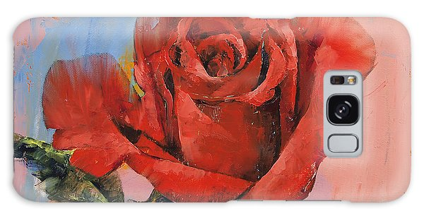 Rose Painting Galaxy Case by Michael Creese