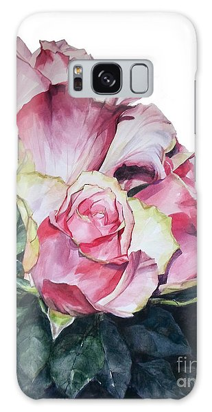 Watercolor Of A Bouquet Of Pink Roses I Call Rose Michelangelo Galaxy Case