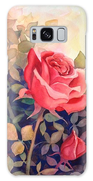 Rose On A Warm Day Galaxy Case by Marilyn Jacobson