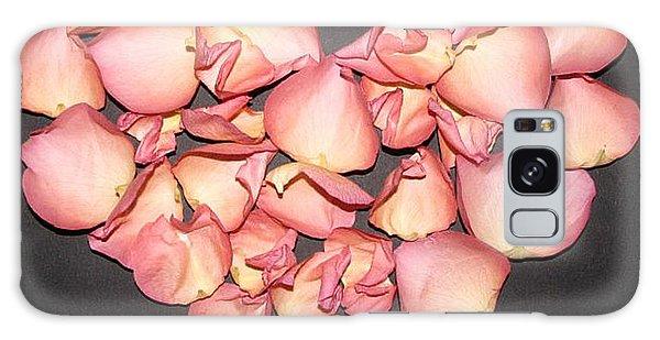 Rose Petals Heart Galaxy Case by Eva Csilla Horvath