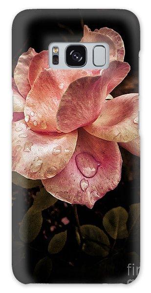 Rose Petals With Raindrops Galaxy Case