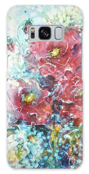 Rose Summer Delight Galaxy Case by Kathleen Pio