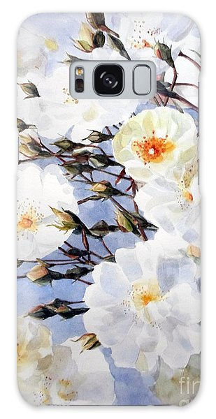 Wartercolor Of White Roses On A Branch I Call Rose Tchaikovsky Galaxy Case