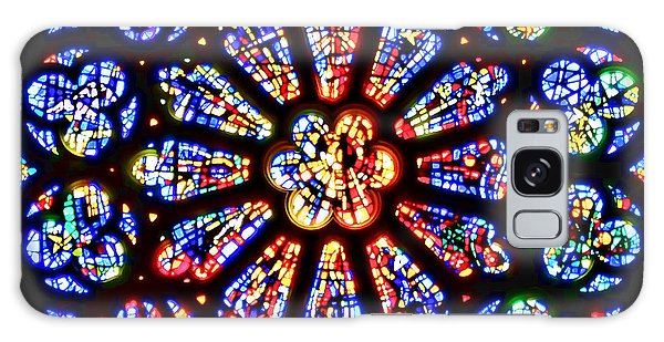 Rose Window Of Grace Cathedral By Diana Sainz Galaxy Case