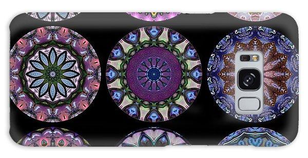 Rose Window Quilt 1 Galaxy Case