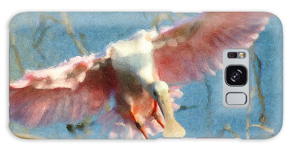 Da203 Roseate Spoonbill By Daniel Adams Galaxy Case