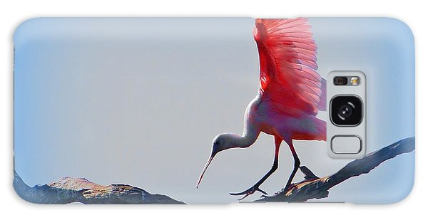 Roseate Spoonbill Galaxy Case by David Mckinney