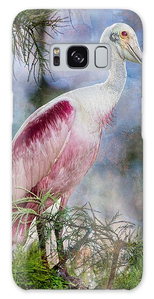 Roseate Spoonbill In Evangeline Parish Galaxy Case