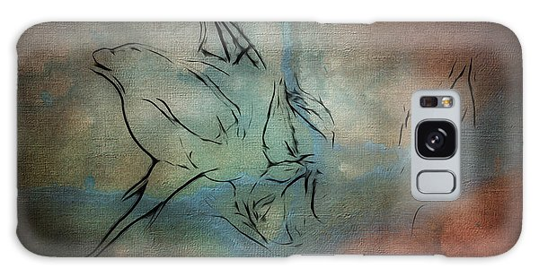 Rosebud Textured Abstract Digital Painting Galaxy Case