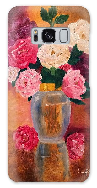 Roses 2 Galaxy Case by Brindha Naveen