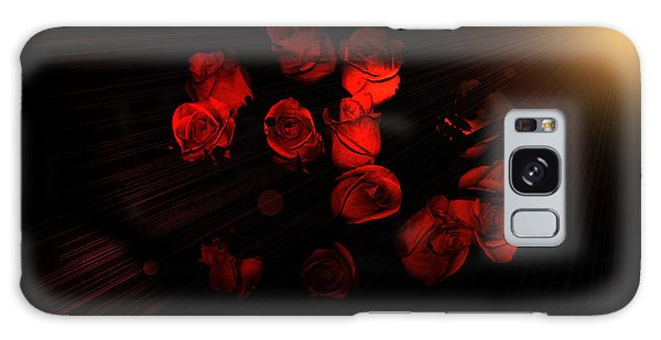 Roses And Black Galaxy Case
