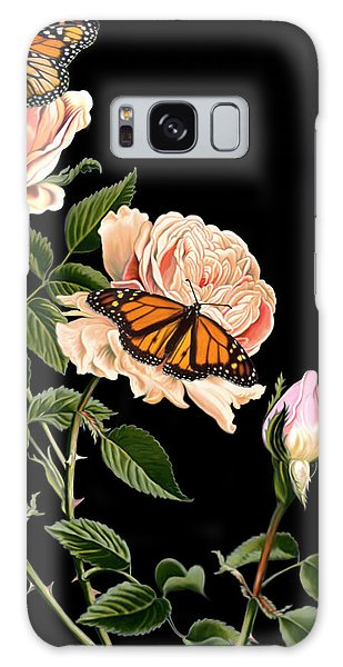 Roses And Butterflies Galaxy Case