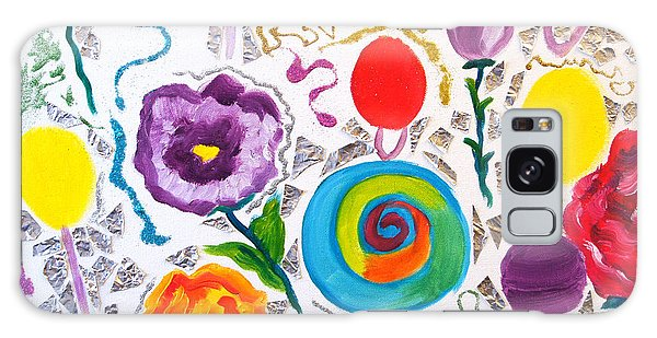 Roses And Lollipops For Mom Galaxy Case by Meryl Goudey