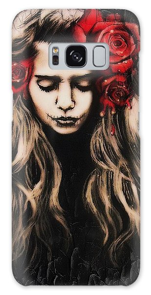 Roses Are Red Galaxy Case by Sheena Pike