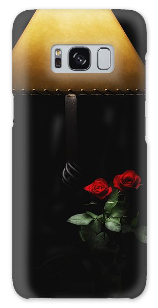 Roses By Lamplight Galaxy Case